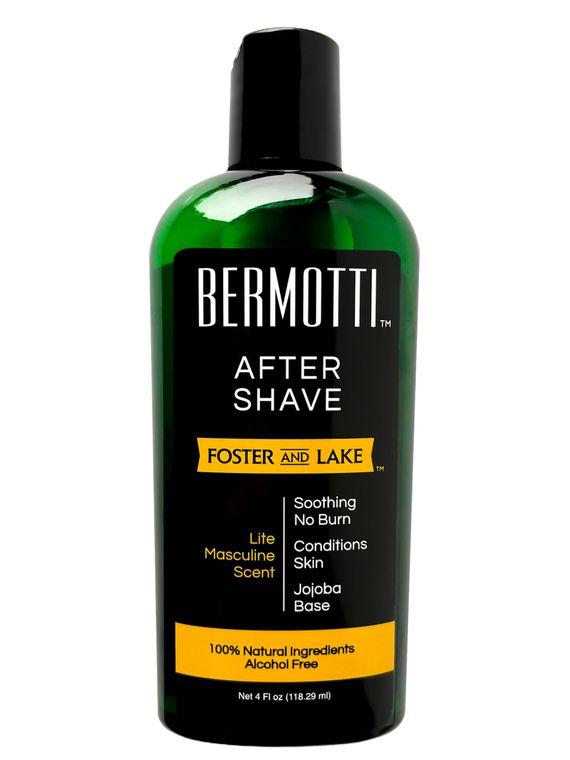 Bermotti  Aftershave (4 oz) with Bergamot & Jojoba, No Alcohol=No Burn- Moisturizer-Dry Skin