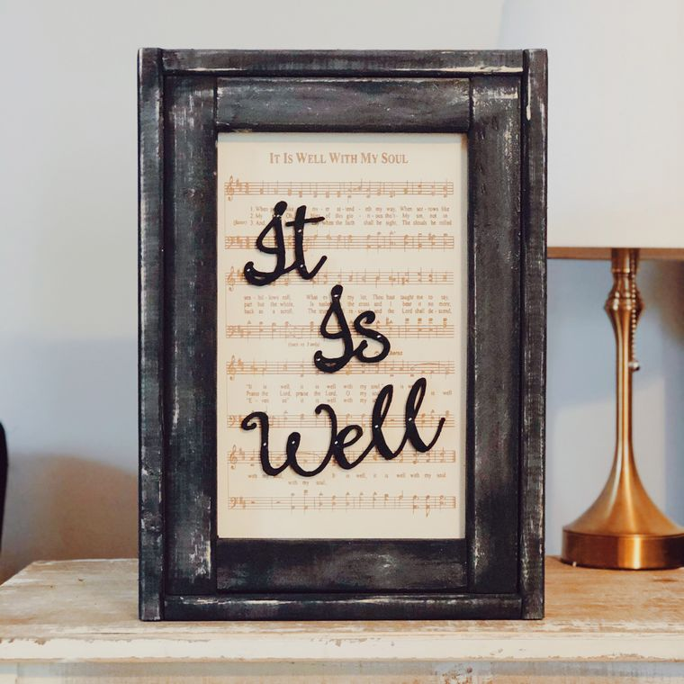 It is Well Framed Hymn