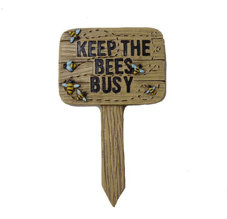 "5"" ""Keep the Bees Busy"" Garden Sign"