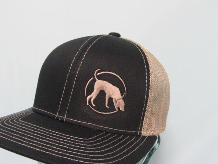 Hound Hunter Black and Tan Logo Adjustable Mesh Hat
