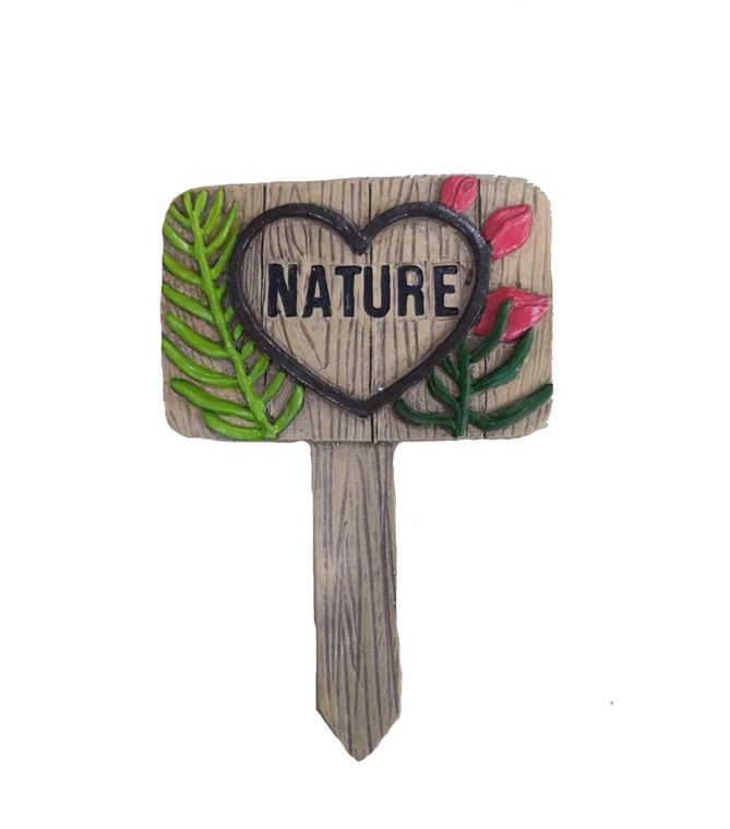 "5"" ""Nature"" Garden Sign, 1pc"