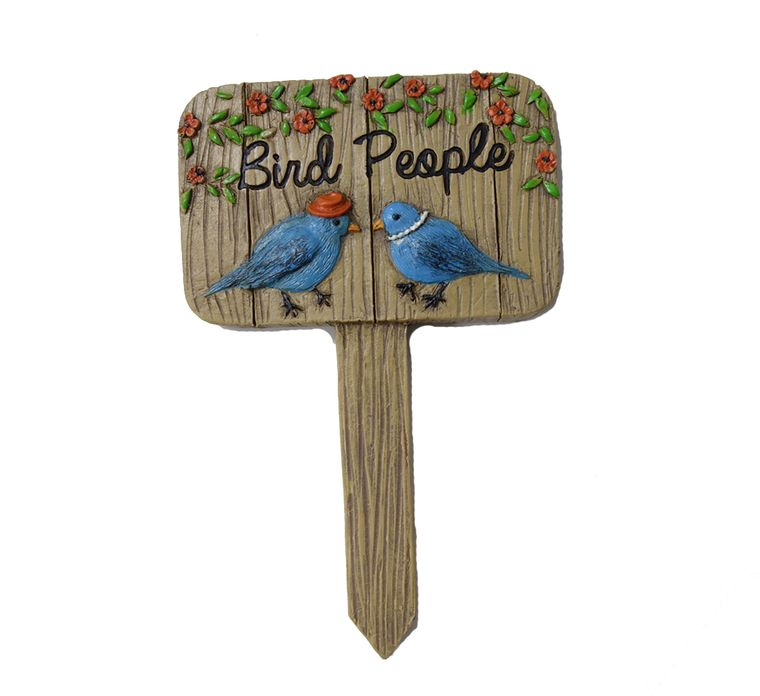 "5"" ""Bird People"" Garden Sign, 1pc"