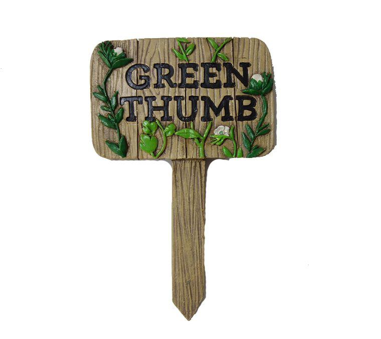 "5 ""Green Thumb"" Garden Sign, 1pc"