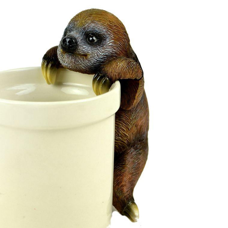 """6"""" Brown Sloth Pot Hanger, 1pc."""