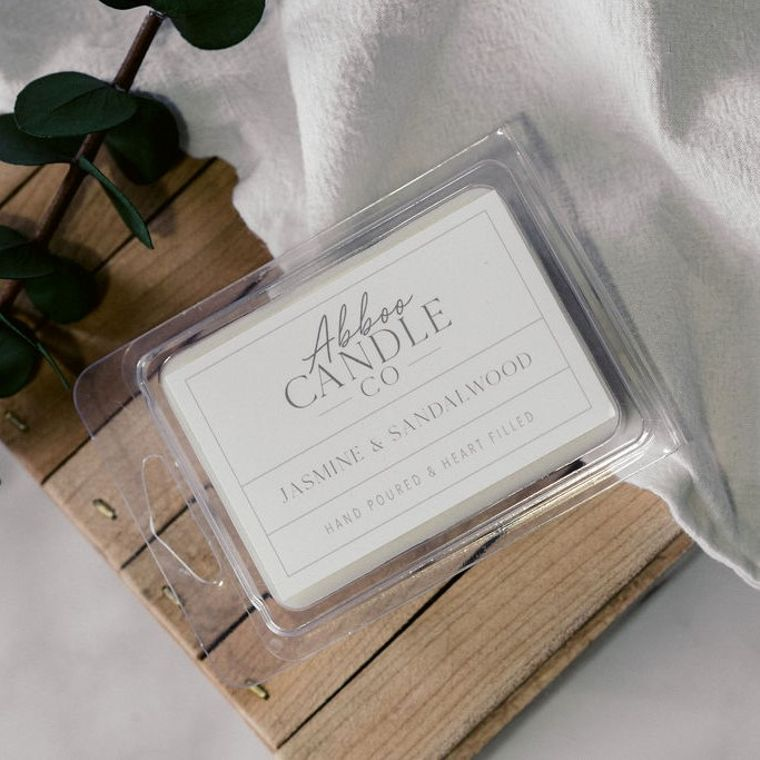 Jasmine & Sandalwood Soy Wax Melts by Abboo Candle Co