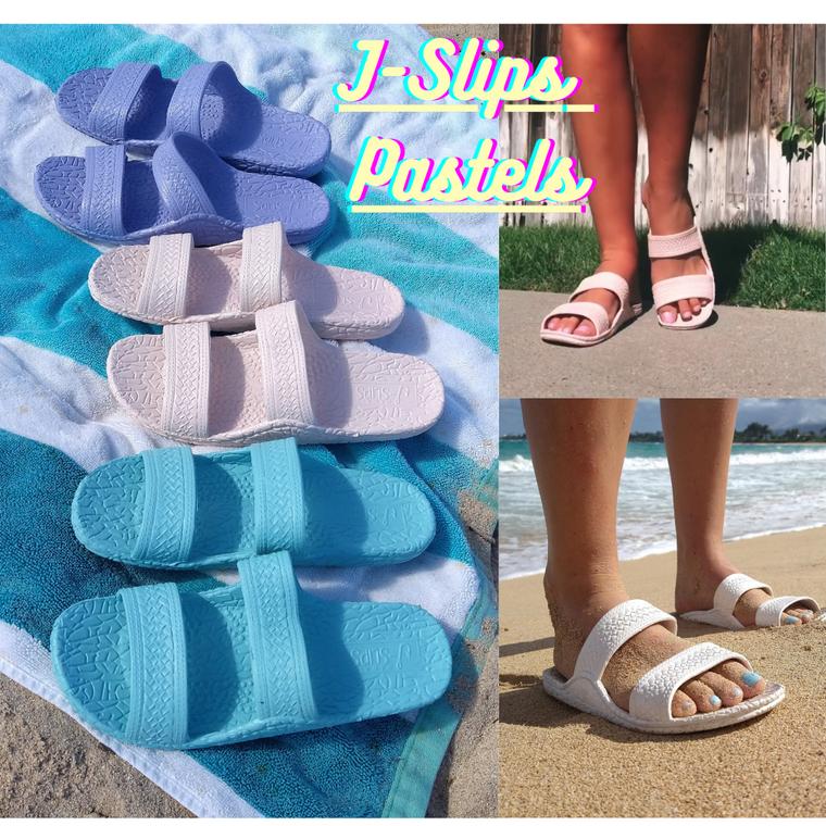 Kid's, Women's, and Men's J-Slips Hawaiian Jesus Sandals Pastel & Classic Colors