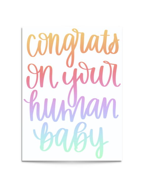 human baby card