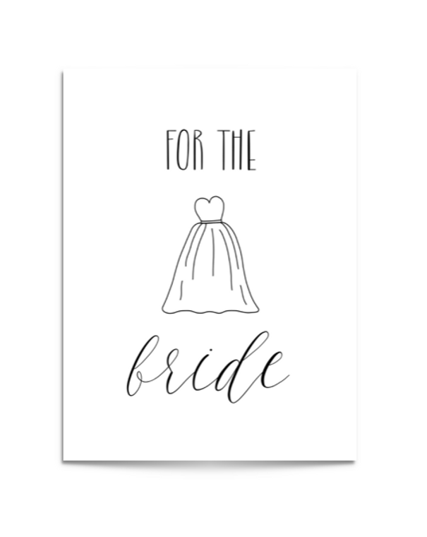 for the bride card