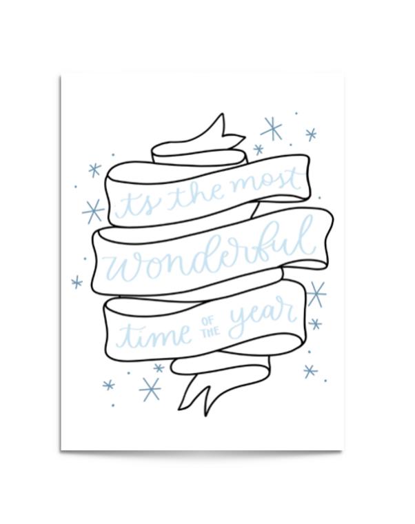 wonderful time banner card