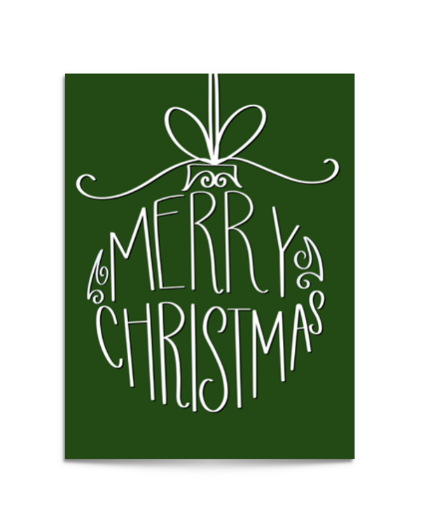 xmas ornament card