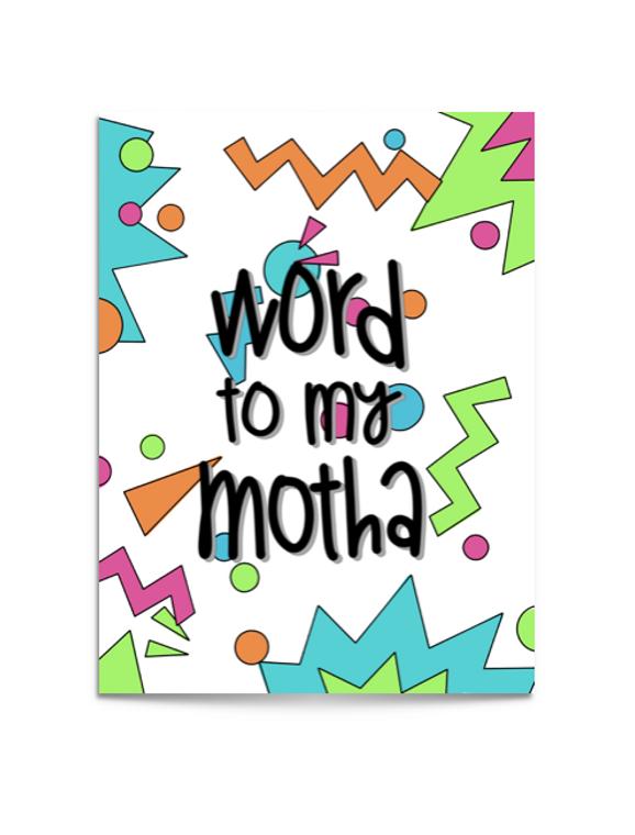 90s mom card