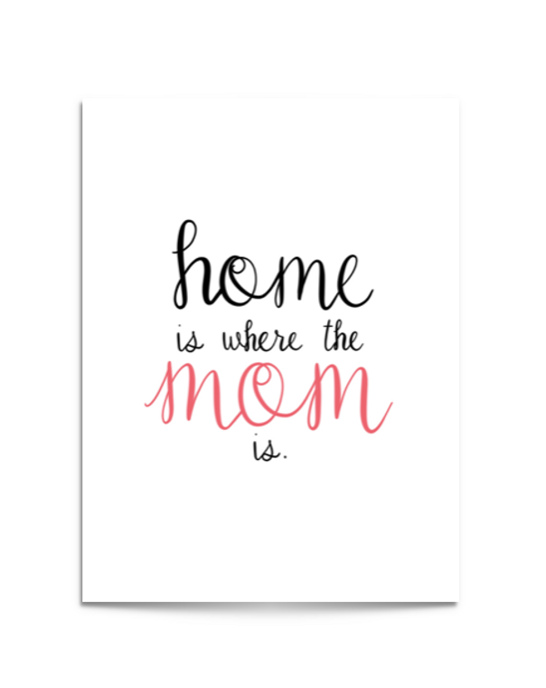 home is mom card