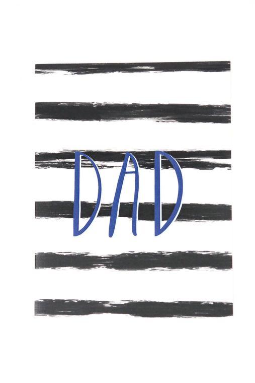stripes dad card