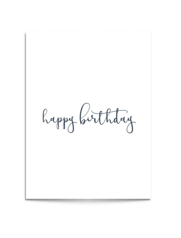 happy birthday navy card