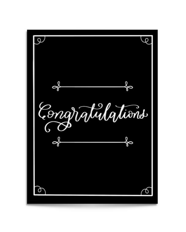 fancy congratulations card