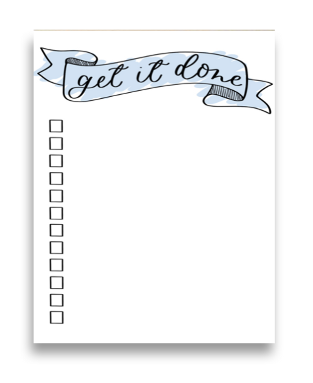 get it done notepad