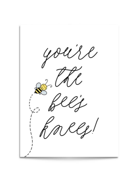 bee's knees card