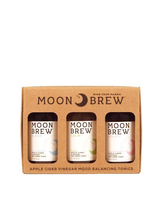 Moon Brew - Triple Crown Sampler 3 Pack Apple Cider Vinegar Tonics (Non-Spicy Fire Cider Recipe)
