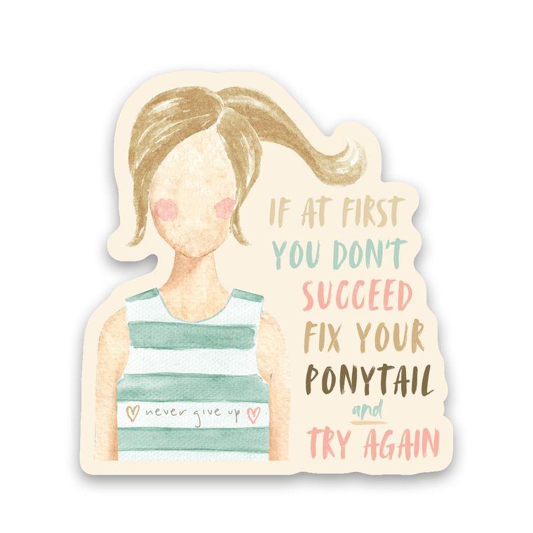 Sticker Ponytail