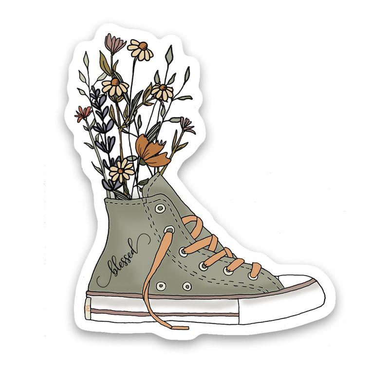 Sticker Converse Shoe