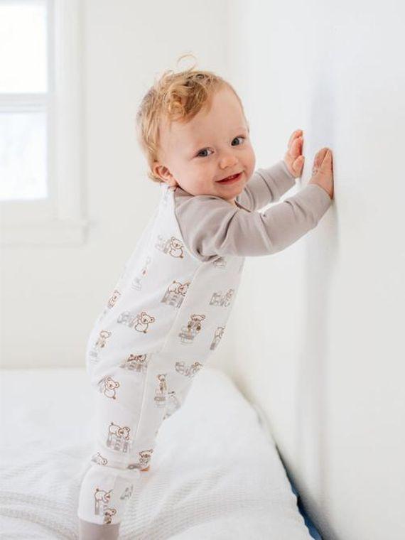 Nerdy Baby: Organic Baby Unisex Romper/Jumpsuit-Books Print
