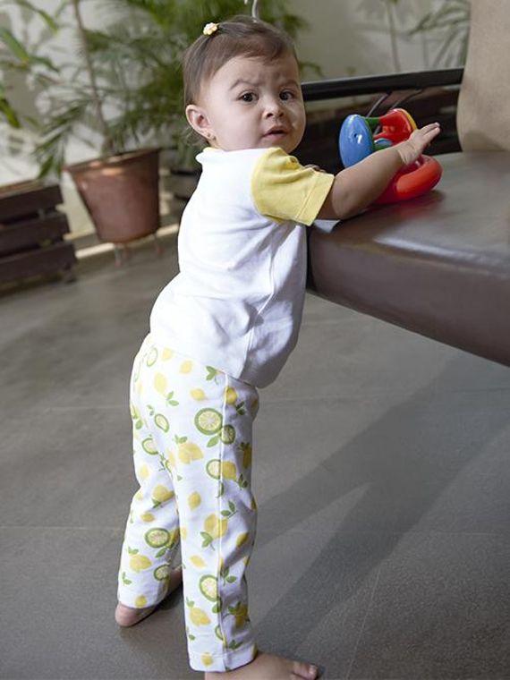 Citrus Garden: Printed Unisex Organic Baby Pants
