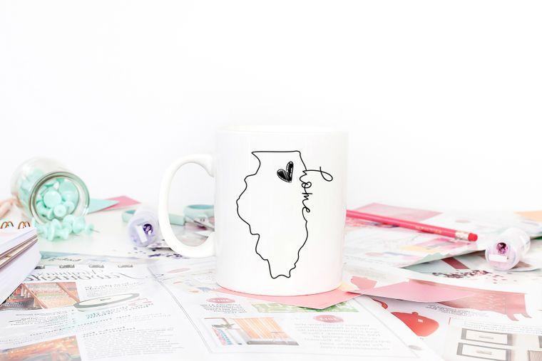 Illinois is Home Deluxe Oversized Mug
