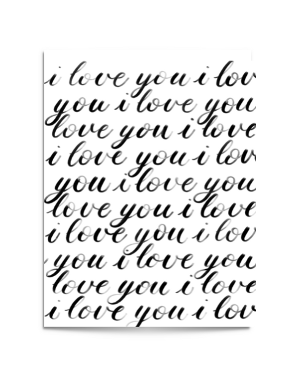 infinity love card