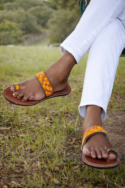 Pumpkin Spice Sandals