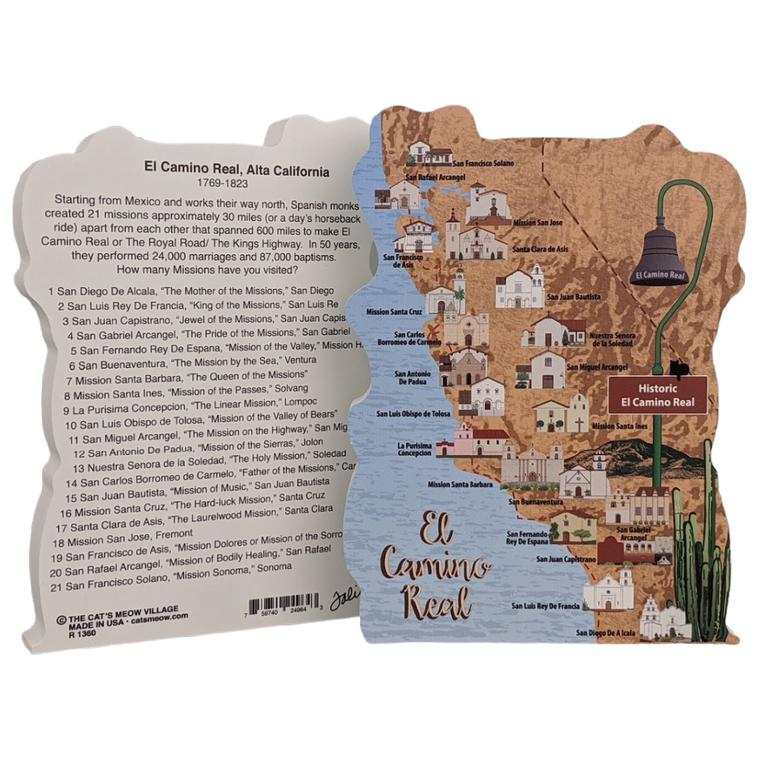CA Historic El Camino Real Map