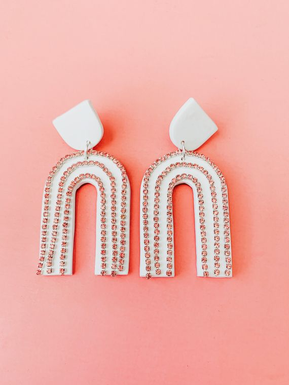 Wildflower Clay Earrings- Custom Sparkle Drops