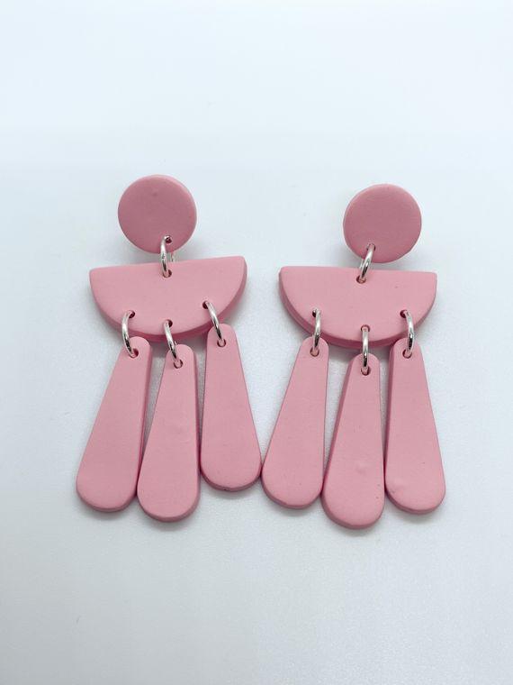 Wildflower Clay Earrings- Ophelia in Pink
