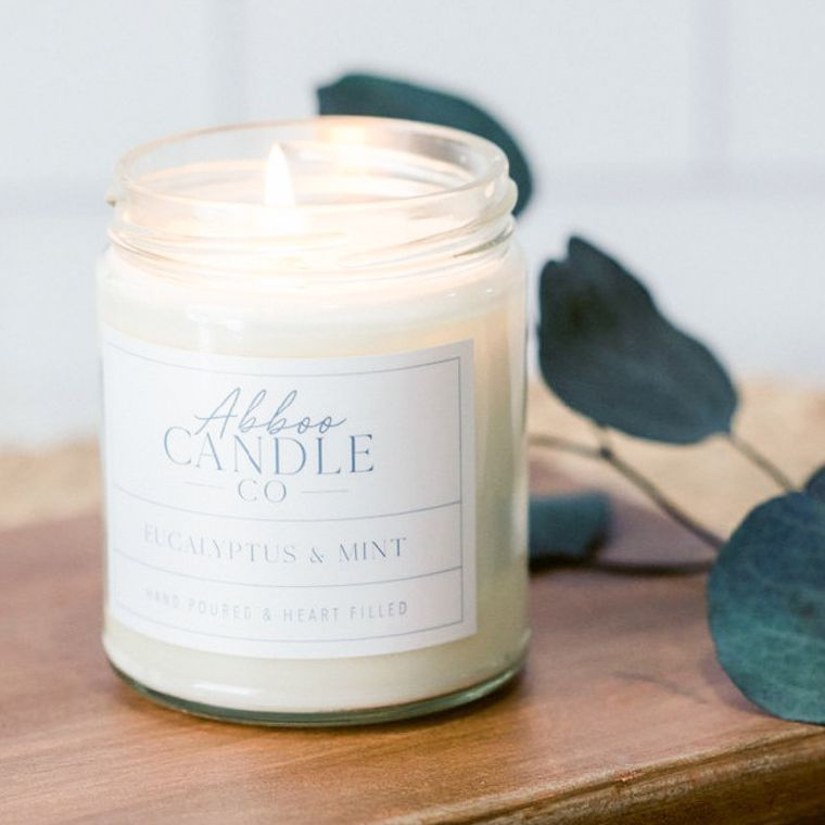 Eucalyptus & Mint Soy Candle by Abboo Candle Co