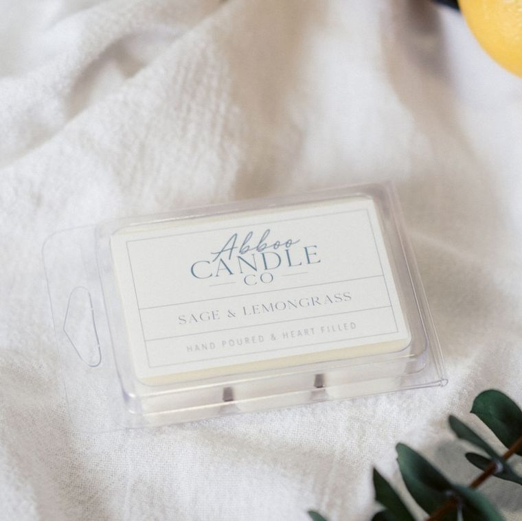 Sage & Lemongrass Soy Wax Melts by Abboo Candle Co