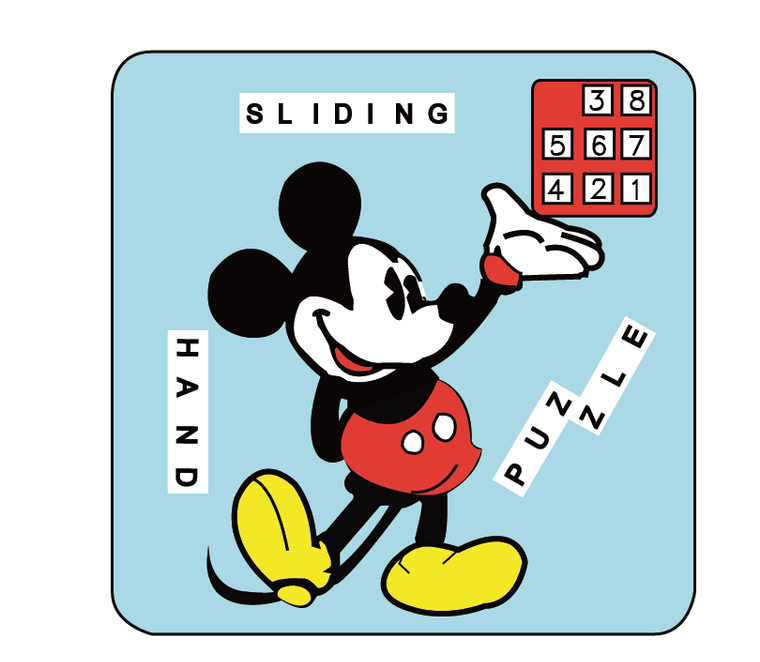 DOUBLE SIDED SLIDING HAND PUZZLE  MCDONALD DUCK 4X4