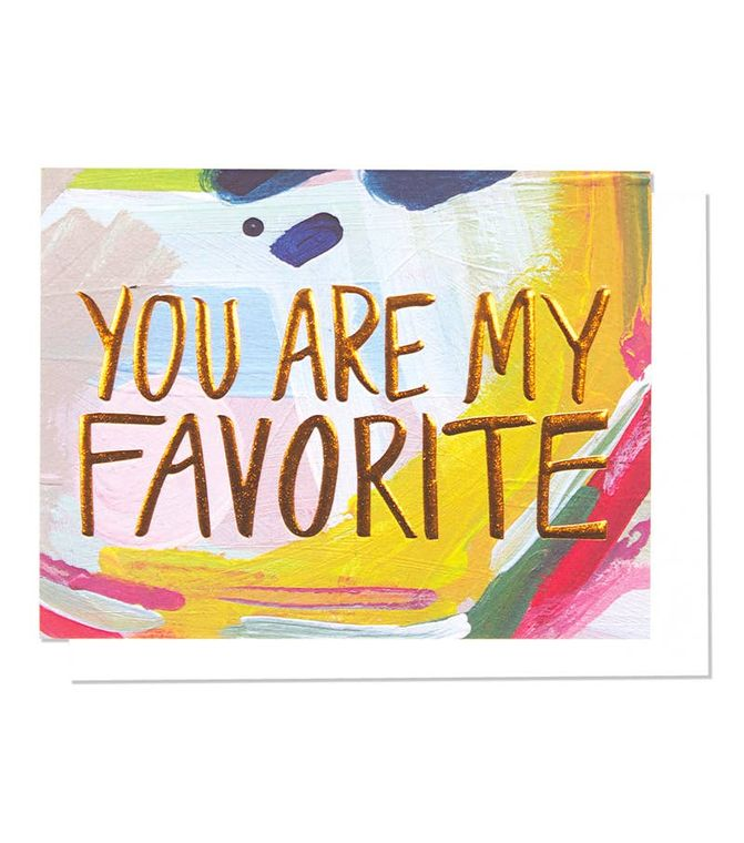 My Favorite Single Copper Foil + Embossed Card