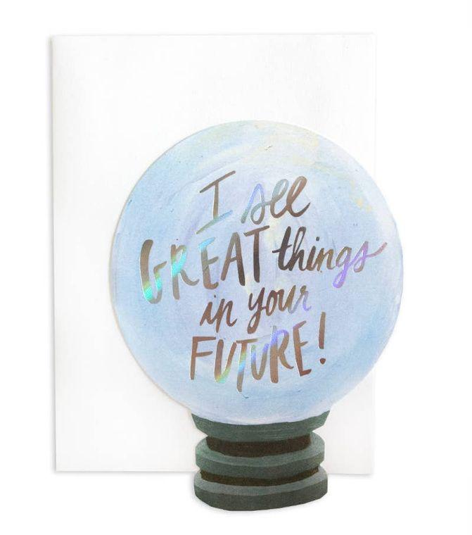 Crystal Ball Die-Cut + Foil Stamped Greeting Card