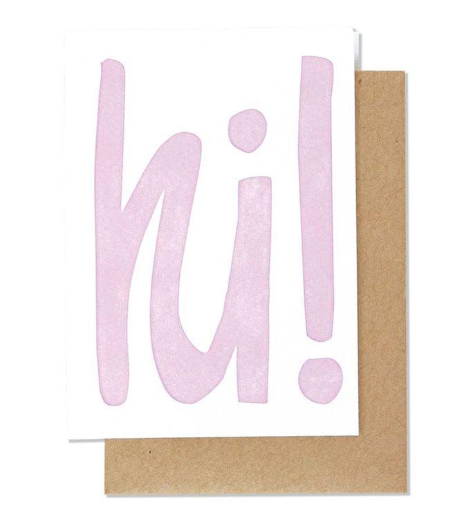 Hi! Letterpress Card