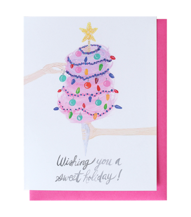 Cotton Candy Christmas Greeting Card
