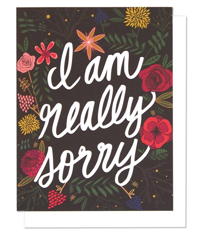 I'm So Sorry Single Card