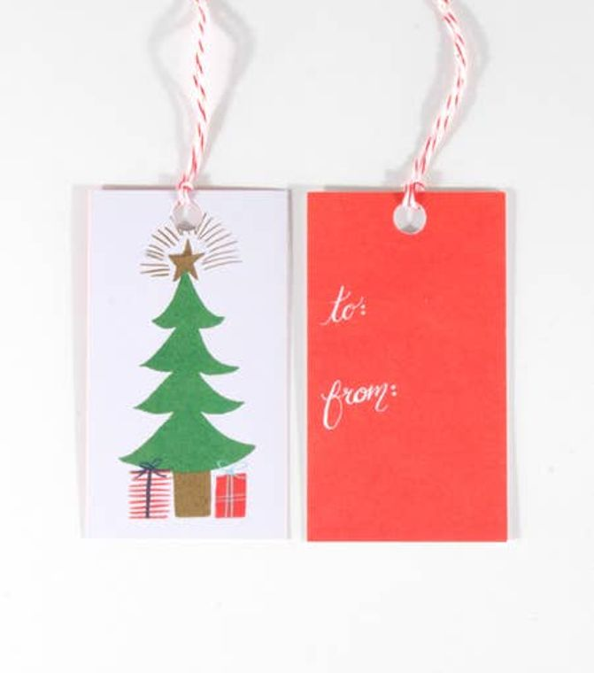 Christmas Tree Gift Tags (Package of 10)
