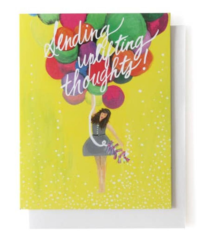 Sending Uplifting Thoughts Single Card