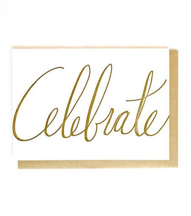 Celebrate Letterpress Greeting Card