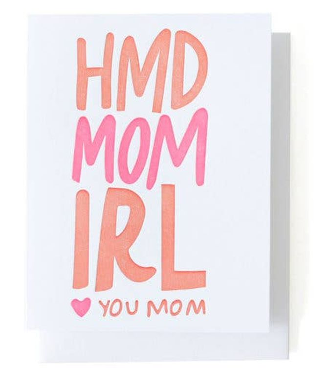 Happy Mother's Day IRL Single Letterpress Card