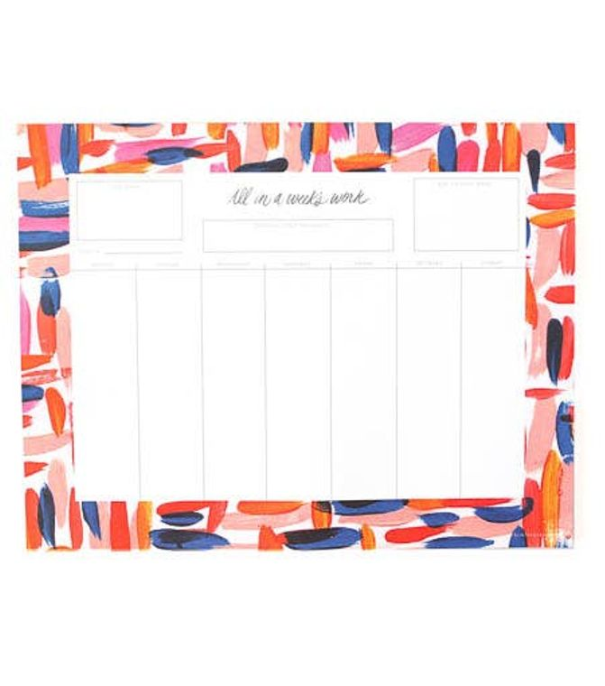 Weekly List Notepad