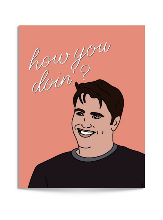 how you doing? card