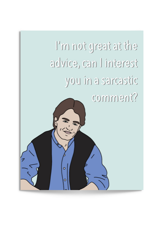 sarcastic chandler card