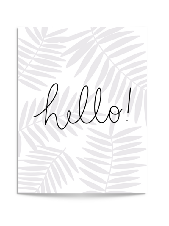 hello fronds card