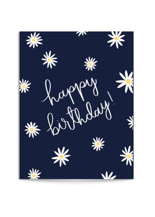 birthday daisies card