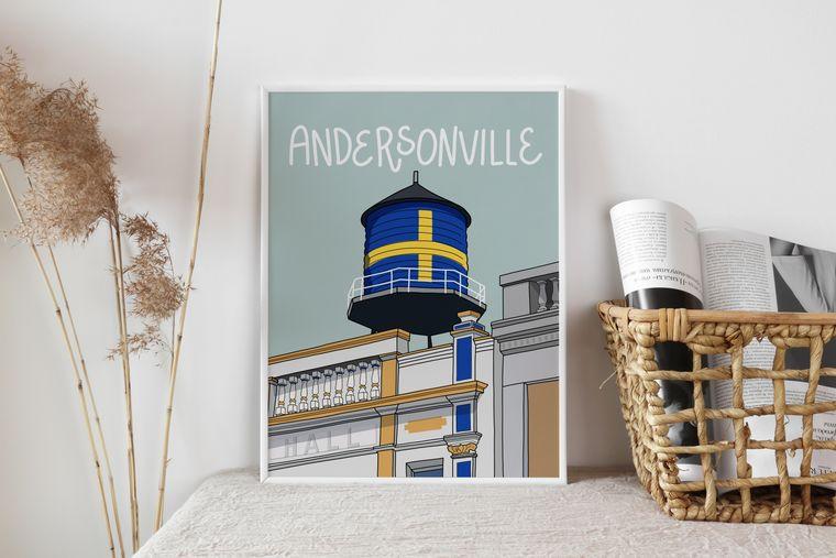 Andersonville - Chicago Neighborhood Illustrated Art Print